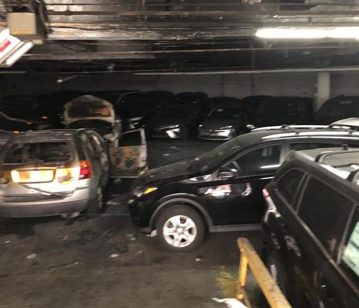 Fire Damage in Toyota Dealership in Bronx, NY Before