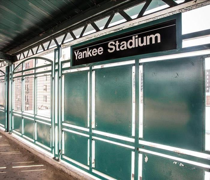 Yankee Stadium Sign inside the Building
